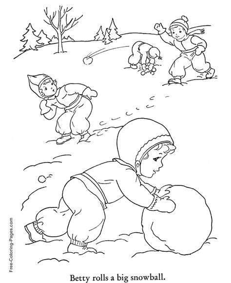 Winter Coloring Pictures Snow Day Fun 24 Coloring Pages Winter