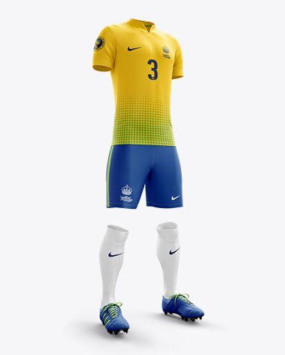Download Mens Full Soccer Kit With V Neck Shirt Hero Shot Jersey Mockup Psd File 29 29 Mb In 2020 Shirt Mockup Clothing Mockup Soccer Kits