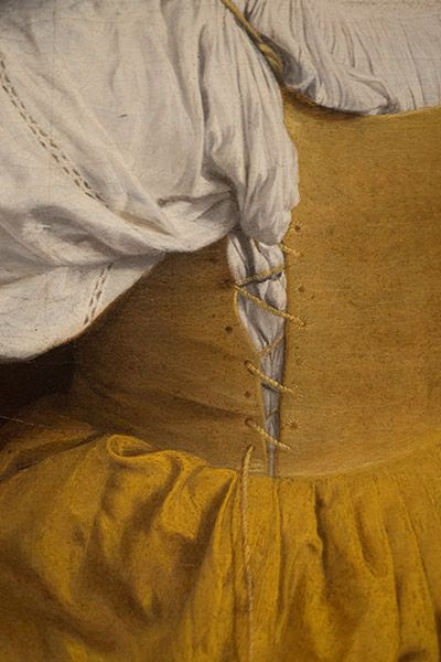 "1610 - Detail of ""Woman with a lute"", by Orazio Gentileschi. Renaissance Costume, Renaissance Fashion, Renaissance Art, Italian Renaissance Dress, Renaissance Clothing, Orazio Gentileschi, Artemisia Gentileschi, Historical Costume, Historical Clothing"