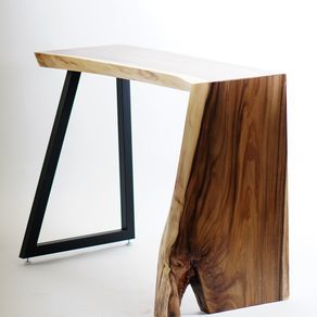 Live Edge Waterfall Entryway Table Console Table By John Riya Hutchinson Console Table Console Table Hallway Entryway Tables