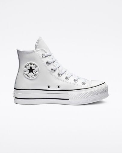 Chuck Taylor All Star Platform Clean Leather High Top Womens ...