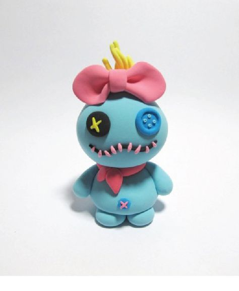 "Polymer clay Scrump. As Lilo would say, ""She's recovering from surgery."""