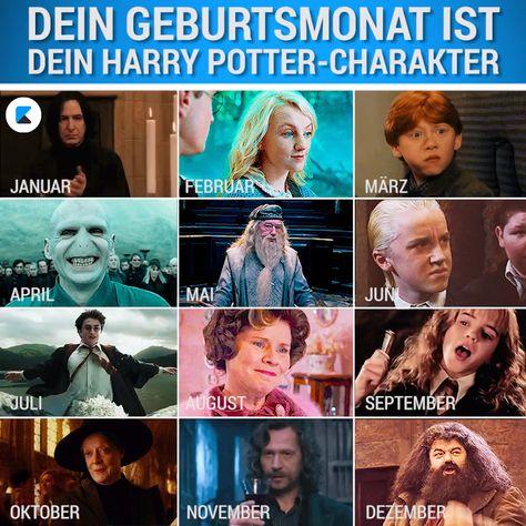 """Welcher Charakter aus der """"Harry Potter""""-Reihe agiert typisch für welchen Geburtsmonat? Wir verraten es dir! #harrypotter #sternzeichen #geburtstag"""