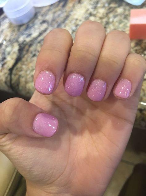 Glittery pink nails (A22)  Talons