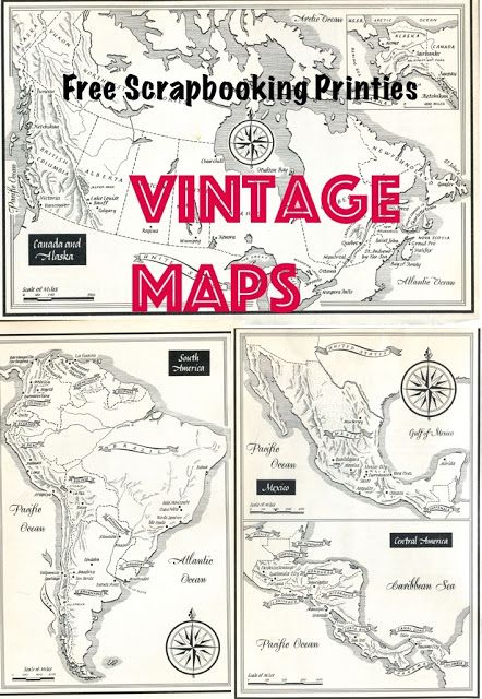 Free Scrapbooking printables - Vintage Maps   Knowledge is