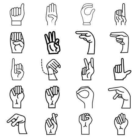 Finger Spelling The Alphabet In American Sign Language Asl American Sign Language Sign Language Letter Icon