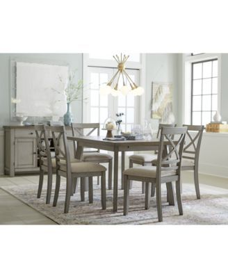 Furniture Fairhaven Dining Furniture 6 Pc Set Table 4 Upholstered Side Chairs Bench Created For Macy Dining Furniture Furniture Upholstered Side Chair
