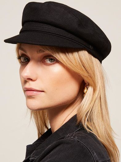 c5afc3933d6a0 This is a flat topped hat with a front brim made from a wool blend. Dorfman  Pacific is a headwear collection inspired by an era when a hat ...