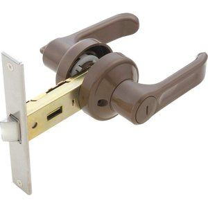 ドアノブ レバーハンドル 浴室錠 樹脂製 アルファ 樹脂レバー間仕切錠
