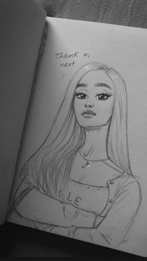 Thank u, next / Ariana Grande / Drawing – #Ariana #corenne #drawing #Grande