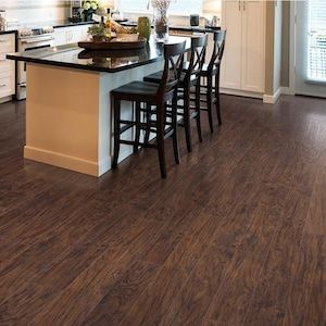 Style Selections Marvino Hickory 6 14 In W X 3 93 Ft L Handscraped Wood Plank Laminate Flooring Lowes Com Handscraped Wood Laminate Flooring Flooring