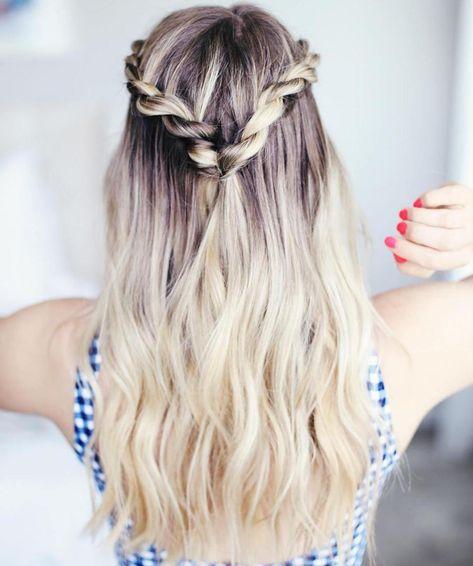 Grad Hairstyles, School Hairstyles For Teens, Teen Girl Hairstyles, Sweet Hairstyles, Cute Hairstyles For Medium Hair, Medium Hair Styles, Natural Hair Styles, Short Hair Styles, Cute Hairstyles With Braids