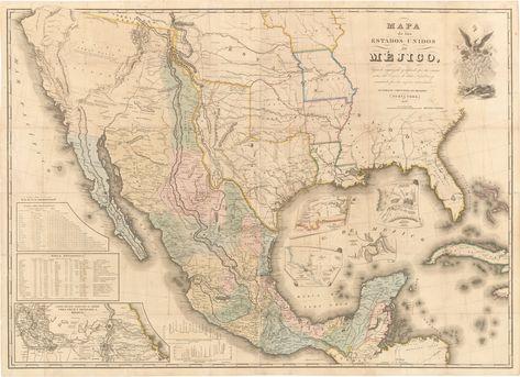 The 1847 Disturnell Treaty Map Of Mexico And The American West Mapa De Mexico Mapa Historico Mapa De Estados Unidos