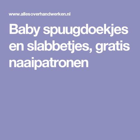 baby spuugdoekjes en slabbetjes, gratis naaipatronen   naai-ideeën