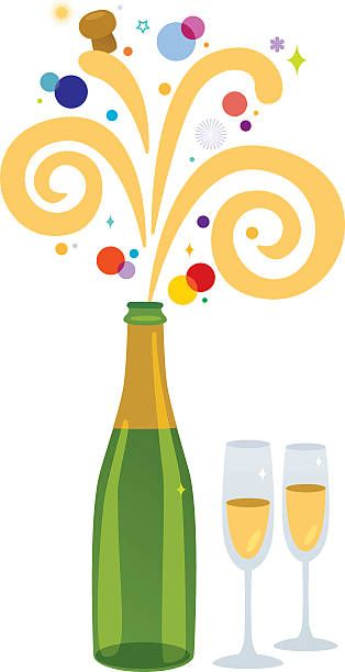 35++ Champagne bottle clipart free information