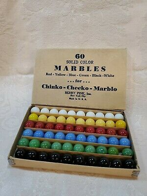 Ad Vintage 60 Marbles Berry Pink Mint Org Nm Box Solid 6 Colors New Old Stock In 2020 Marble Colors Pink Brand Berries