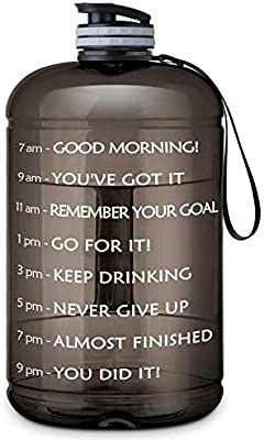 Amazon Com Gallon Water Bottle Portable Water Jug Fitness Sports Daily Water Bottle With Motivational Time In 2020 Water Jug Fitness Gallon Water Bottle Gym Bottle