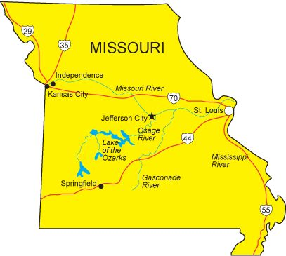 You Know What I Liked About Living In Missouri Seasons D Who - Map of missouri cities
