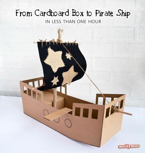 Pin About Piratenschiff Basteln Schiff Basteln Und