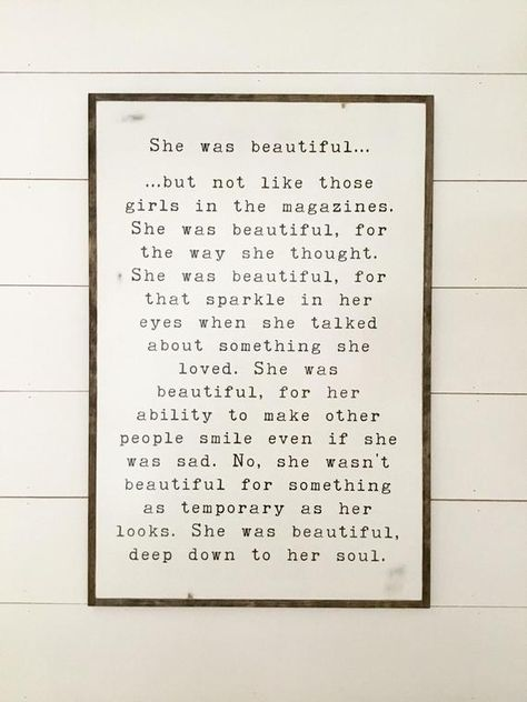 SHE WAS BEAUTIFUL 2X3 girls sign modern farmhouse bedroom   Etsy