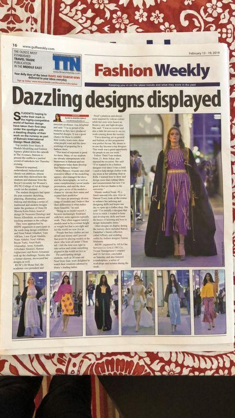 Gulf Weekly, 13th Feb 2019. The Matty B Models Fashion Show was a Dazzle!   9 of the Matty B Models at the Bahrain International Design Week, Bahrain  #bahrain #modelagency #bahrainmodels #runwaymodels #gulfweekly