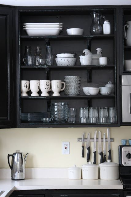 WHIMAGES: Our Painted Black Cabinets Kitchen REVEAL PARTY...not really but I got tired of promising you!