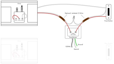 Single Phase Wiring Diagram For House Doorbell Button Diagram Chart Wire