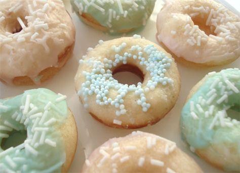 Homemade donut favors.
