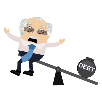 Old Man With Debt Illustration Vector On White Background Old Man Clipart Man Old Png And Vector With Transparent Background For Free Download Retro Vector Man Clipart Illustration