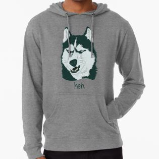 Sweatshirt With A Picture Of A Husky Dog On It