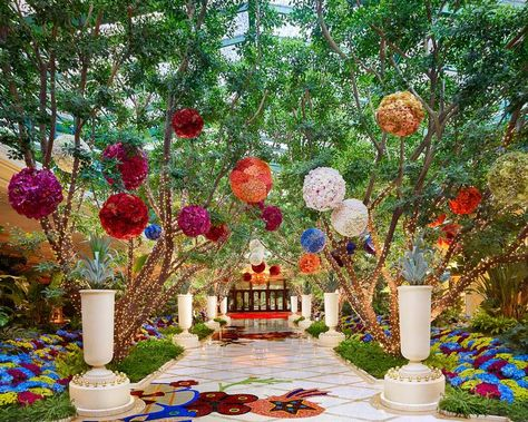 The atrium at the Wynn Hotel Las #Vegas