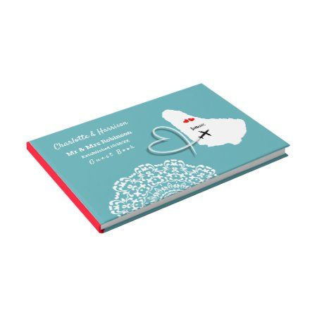 Destination Barbados Wedding Guest Book - tap/click to get yours right now! #GuestBook  #destination #weddings #abroad #beach #ticket