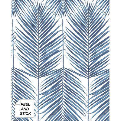 Bayou Breeze Lipman Paradise Palm 18 L X 20 5 W Peel And Stick Wallpaper Roll Wayfair Ca Peel And Stick Wallpaper Coastal Wallpaper Blue Wallpapers