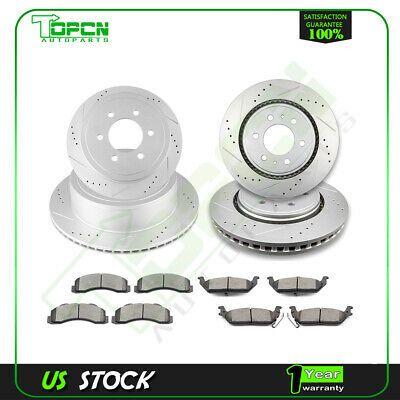 2007 2008 2009 2010 VW GTI Rotors Ceramic Pads F OE Replacement