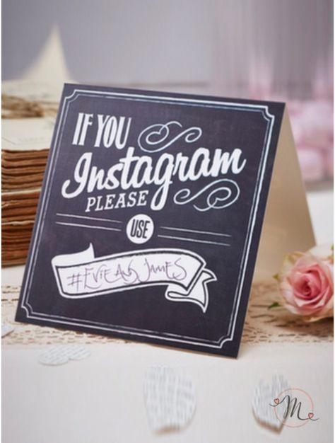 Hashtag Anniversario Matrimonio.Wedding Instagram Originale Cartellino In Cartoncino Dove