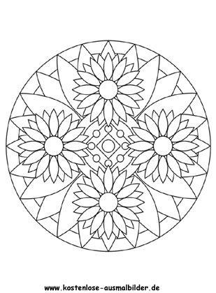 Blumen Mandala 2 Zum Ausmalen Ausmalbilder Blumen Ausmalbilder Malvorlagen Fruhling