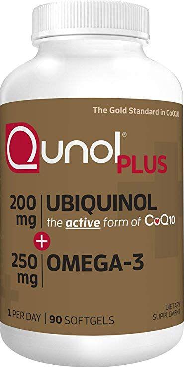 Qunol Ubiquinol Omega 3 Plus Coq10 200mg Extra Strength Ubiquinol Plus Dha And Epa For Heart And Vascular Health Ubiquinol Health Heart Health Supplements