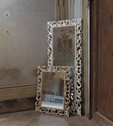 Specchiera legno figura intera