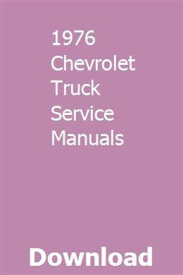1976 Chevrolet Truck Service Manuals Chevrolet Captiva