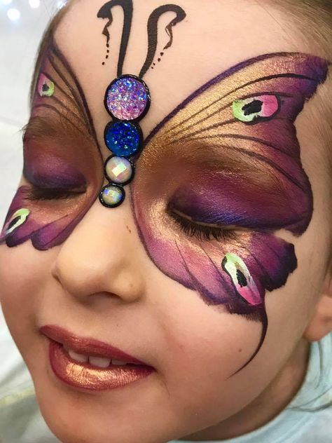 die 21 besten ideen zu kinderschminken schmetterling