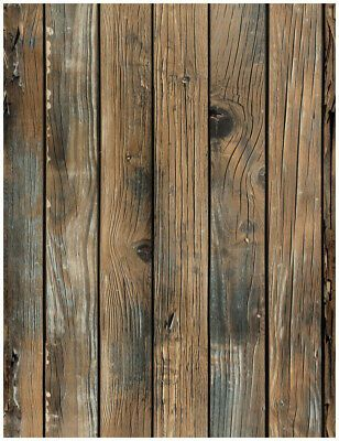 3d Peel And Stick Wallpaper Wood Plank Brown Self Adhesive Distressed Wall Paper Ebay In 2020 Wood Wallpaper Faux Wood Wall Wood Plank Wallpaper