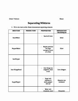 Mixtures And Solutions Worksheet Google Search With Images