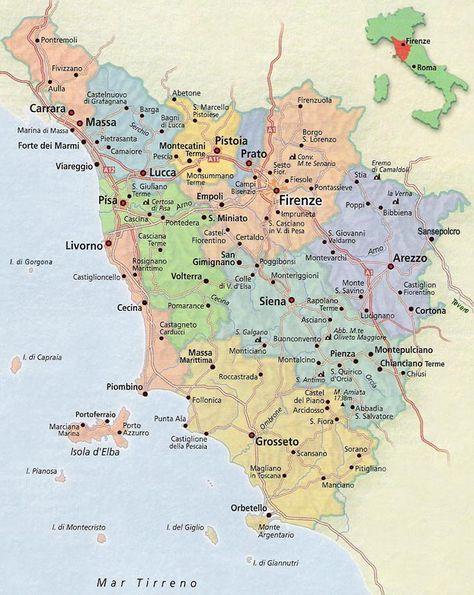 Mapa Da Toscana Mapa Da Toscana Mapa Da Italia E Toscana Italia