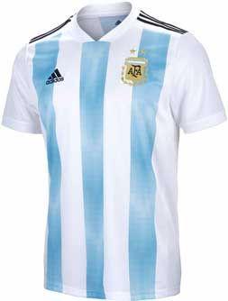Adidas Argentina Home Jersey 2018 19 Soccerpro Com Adidas Men World Cup Jerseys Team Jersey