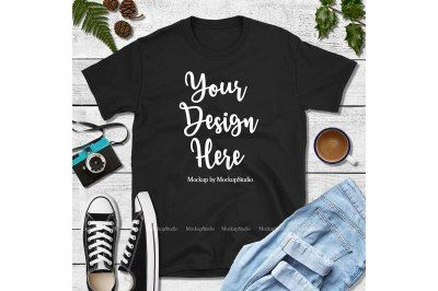 Download Fall Black Shirt Mock Up Gildan 64000 Tshirt Mockup Psd Mockup Template Design Mockup Free Free Psd Design Free Packaging Mockup