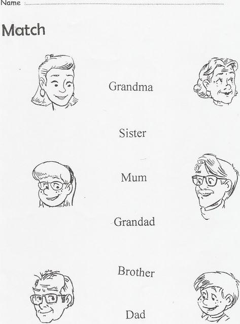 La Familia En Ingles Para Colorear Imagui Ingles Para
