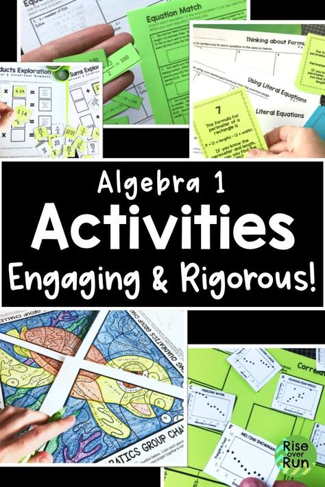 Literal Equations Coloring Activity Football - Tessshebaylo