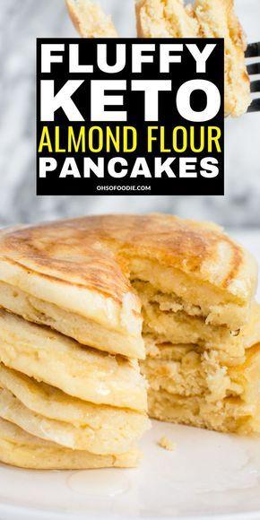 Almond Flour Pancakes, Low Carb Pancakes, Almond Flour Recipes, Fluffy Pancakes, Almond Flour Bread, Tasty Pancakes, Oat Flour, Cream Cheese Keto Recipes, Almond Flour Desserts