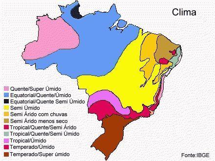 Climas Do Brasil Study Geografia Do Brasil Climas Do Brasil E