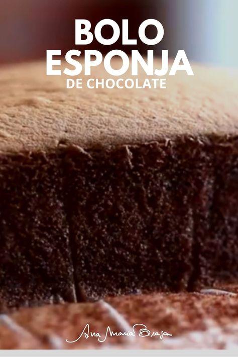 Uma receita especial de Bolo esponja de chocolate. Um bolo fofinho, macio, saboroso, incrível!